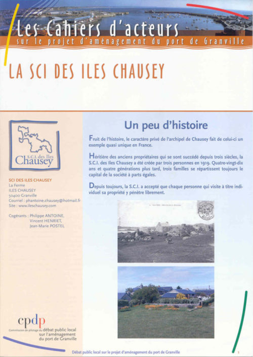 Les cahiers d'acteurs sur le projet d'aménagement du port de Granville